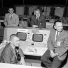 FLIGHT DIRECTORS IN MISSION OPERATIONS CONTROL ROOM - 8X10 NASA PHOTO (AA-365)
