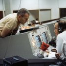 DEKE SLAYTON WITH PAUL HANEY IN THE MCC DURING GEMINI 4 - 8X10 PHOTO (AA-422)