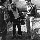 ACTOR / MAJOR JAMES STEWART SPEAKS WITH B-24 CREW MEMBER - 8X10 PHOTO (AB-017)