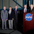 SURVIVING MERCURY ASTRONAUTS W/ JIM LOVELL AT KSC 2002 8X10 NASA PHOTO (EP-734)