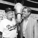 "ALAN YOUNG, DODGERS' MANAGER LEO DUROCHER AND ""MISTER ED"" - 8X10 PUBLICITY PHOTO (ZY-116)"