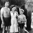 JOHNNY WEISSMULLER & BRENDA JOYCE IN 'TARZAN & THE AMAZONS' - 8X10 PUBLICITY PHOTO (AB-076)