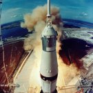 LIFT-OFF OF APOLLO 11 ARMSTRONG ALDRIN COLLINS - 8X10 NASA PHOTO (BB-002)