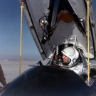 NASA TEST PILOT NEIL ARMSTRONG IN THE X-15 SHIP #1 COCKPIT - 8X10 PHOTO (AA-432)