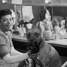 JAZZ ARTIST BILLIE HOLIDAY & HER DOG 'MISTER' - 8X10 PUBLICITY PHOTO (NN-107)
