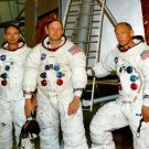 APOLLO 11 CREW NEIL ARMSTRONG BUZZ ALDRIN MICHAEL COLLINS - 8X10 PHOTO (BB-032)