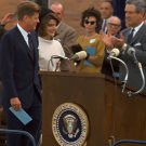 PRESIDENT JOHN F KENNEDY PREPARES TO GIVE SPEECH SAN ANTONIO 8X10 PHOTO (BB-224)
