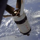 APOLLO 7 S-IVB ROCKET STAGE IN EARTH ORBIT - 8X10 NASA PHOTO (BB-107)