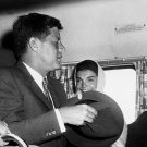 PRESIDENT JOHN F. KENNEDY & JACKIE ARRIVE AT ANDREWS AFB - 8X10 PHOTO (BB-222)