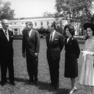 PRESIDENT JOHN F. KENNEDY WITH BRITISH PM HAROLD MACMILLAN - 8X10 PHOTO (BB-239)