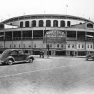 EXTERIOR VIEW OF CHICAGO CUBS' WRIGLEY FIELD IN MAY, 1939 - 8X10 PHOTO (BB-810)