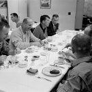 GEMINI 7 ASTRONAUTS JIM LOVELL FRANK BORMAN BREAKFAST - 8X10 NASA PHOTO (AA-623)