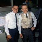 WILLIAM SCHNEIDER & GENE KRANZ IN MISSION CONTROL FOR GEMINI 9A - 8X10 NASA PHOTO (AA-624)