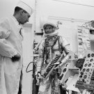 MERCURY ASTRONAUT GORDO COOPER CHECKS FAITH 7 PANEL - 8X10 NASA PHOTO (ZZ-433)
