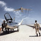NASA RESEARCH PILOT BILL DANA WATCHES NB-52B CRUISE OVERHEAD 8X10 PHOTO (AA-226)