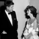 PRESIDENT JOHN F. KENNEDY WITH ACTRESS/SINGER JULIE LONDON - 8X10 PHOTO (BB-253)