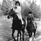 JACKIE KENNEDY RIDES HORSEBACK WITH CHILDREN IN 1962 - 8X10 PHOTO (CC-034)