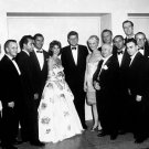 JOHN F KENNEDY WITH GROUP WHITE HOUSE CORRESPONDENTS' DINNER 8X10 PHOTO (BB-293)