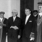 DRS. WERNHER VON BRAUN & HERMANN OBERTH HONORED IN BERLIN - 8X10 PHOTO (DA-394)