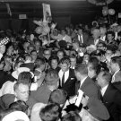 ROBERT KENNEDY WITH WIFE ETHEL SURROUNDED BY SUPPORTERS - 8X10 PHOTO (DA-404)