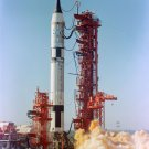 GEMINI 3 LAUNCH IN 1965 GUS GRISSOM JOHN YOUNG - 8X10 NASA PHOTO (AA-157)