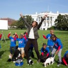 FIRST LADY MICHELLE OBAMA IN A 'LET'S MOVE' EVENT - 8X10 PHOTO (ZZ-506)