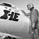 NASA TEST PILOT JOE WALKER STANDS BY THE X-1E AIRCRAFT- 8X10 NASA PHOTO (EP-148)