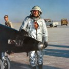 TEST PILOT NEIL ARMSTRONG STANDS NEXT TO X-15 AIRCRAFT 8X10 NASA PHOTO (AA-382)