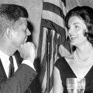 PRESIDENT JOHN F. KENNEDY WITH WIFE JACKIE - 8X10 PHOTO (AA-385)