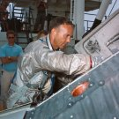 ASTRONAUT MICHAEL COLLINS DURING WATER EGRESS TRAINING - 8X10 PHOTO (AA-406)