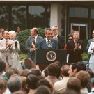 PRESIDENT RICHARD NIXON VISITS JOHNSON SPACE CENTER IN 1974 - 8X10 NASA PHOTO (AA-409)