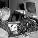 NASA TEST PILOT JOE WALKER IN THE X-15 SIMULATOR IN 1963 - 8X10 PHOTO (AA-413)