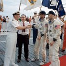 GEMINI 12 ASTRONAUTS JIM LOVELL BUZZ ALDRIN ABOARD USS WASP 8X10 PHOTO (AA-417)