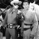CLAYTON MOORE & JAY SILVERHEELS 'THE LONE RANGER' 8X10 PUBLICITY PHOTO (AA-124)