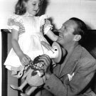 JACK BENNY WITH HIS DAUGHTER JOAN IN FEBRUARY, 1940 - 8X10 PHOTO (AA-129)