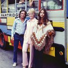 CAST OF TV SHOW 'THE PARTRIDGE FAMILY' ON TOUR BUS 8X10 PUBLICITY PHOTO (AA-218)