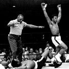 MUHAMMAD ALI KNOCKS OUT SONNY LISTON IN LEWISTON MAINE 1965 8X10 PHOTO (ZY-141)