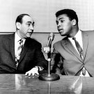 CASSIUS CLAY IS INTERVIEWED BY HOWARD COSELL ON WABC 1965 - 8X10 PHOTO (ZY-143)