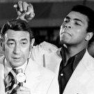 MUHAMMAD ALI JOKES WITH HOWARD COSELL @ 1972 BOXING TRIALS - 8X10 PHOTO (ZY-156)