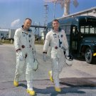 GEMINI 8 ASTRONAUTS NEIL ARMSTRONG & DAVE SCOTT AT KSC 8X10 NASA PHOTO (AA-498)