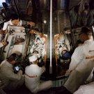 GEMINI 4 ASTRONAUTS ED WHITE AND JIM McDIVITT INSIDE CRAFT - 8X10 PHOTO (AA-499)