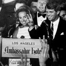 ROBERT F KENNEDY CELEBRATES CALIFORNIA WIN PRIOR TO SHOOTING 8X10 PHOTO (AA-828)