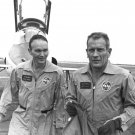 APOLLO ASTRONAUT MICHAEL COLLINS AND DEKE SLAYTON - 8X10 PHOTO (AA-761)
