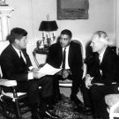 PRESIDENT JOHN F. KENNEDY MEETS NATIONAL URBAN LEAGUE DIR. - 8X10 PHOTO (AA-768)
