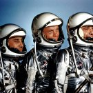 MERCURY ASTRONAUTS ALAN SHEPARD JOHN GLENN GUS GRISSOM 8X10 NASA PHOTO (BB-342)