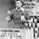 "LUCILLE BALL ""VITAMEATAVEGAMIN"" IN 'I LOVE LUCY' 8X10 PUBLICITY PHOTO (BB-752)"