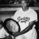 HALL OF FAMER JACKIE ROBINSON HOLDS 1949 NATIONAL LEAGUE MVP 8X10 PHOTO (EP-952)