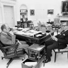 PRESIDENT GERALD FORD WITH VICE-PRESIDENT NELSON ROCKEFELLER 8X10 PHOTO (EP-520)