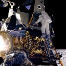 ALAN BEAN APOLLO 12 ASTRONAUT APPROACHES MOON SURFACE 8X10 NASA PHOTO (EP-241)