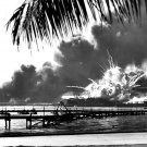 USS SHAW EXPLODES DURING THE ATTACK ON PEARL HARBOR 12/7/41 8X10 PHOTO (AZ-047)